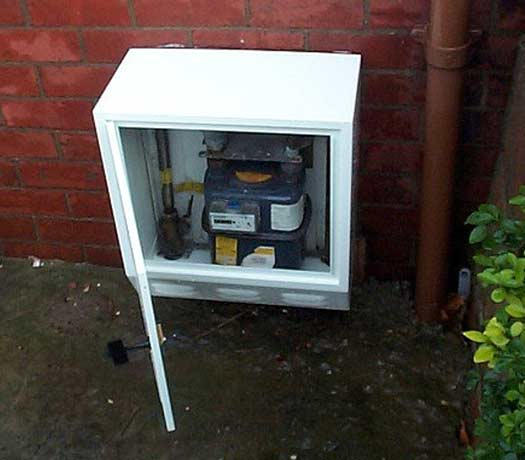 External gas meter box