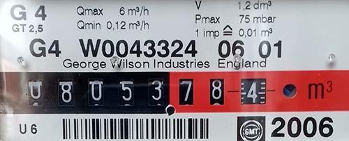 Digital gas meter display dials