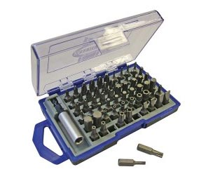 Faithfull 61 piece screwdriver bits and holder
