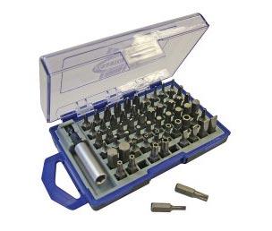 Faithfull 61 piece screwdriver bits and holder