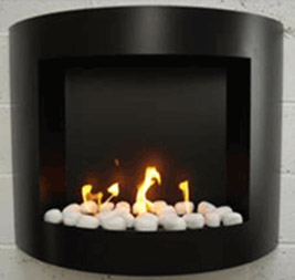 Free standing wall mounted gel fire