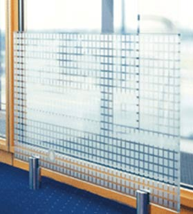 Glass radiator with custom printed design