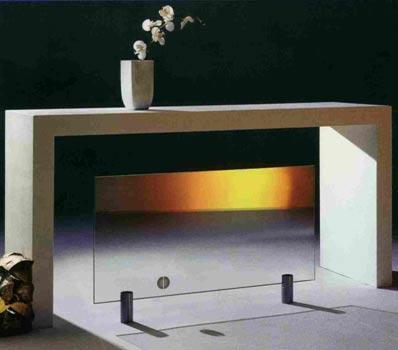 A stylish glass radiator