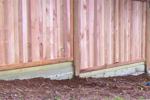 Stepped fencing using gravel boards