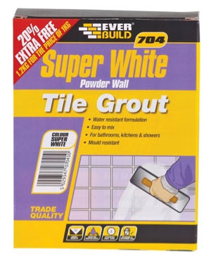 Everbuild Super White powdered wall tile grout