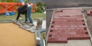 Laying Paving Bricks