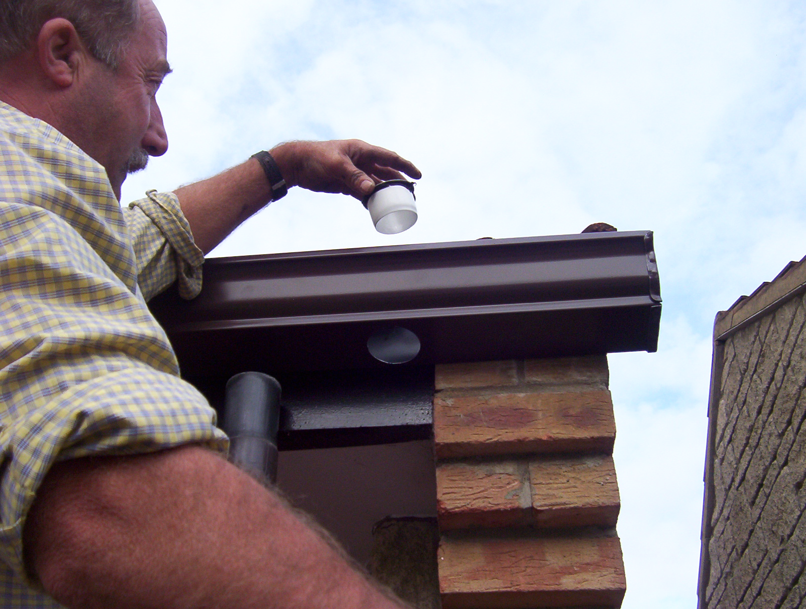 Testing the guttering