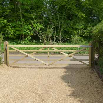 Large 5 bar wooden gate