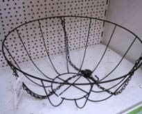 Wire Framed Hanging Basket