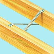 Herringbone joist struts