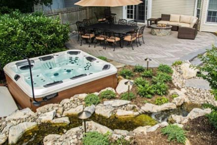 Position hot tubs in the right place