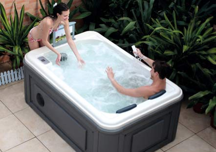 A typical garden spa