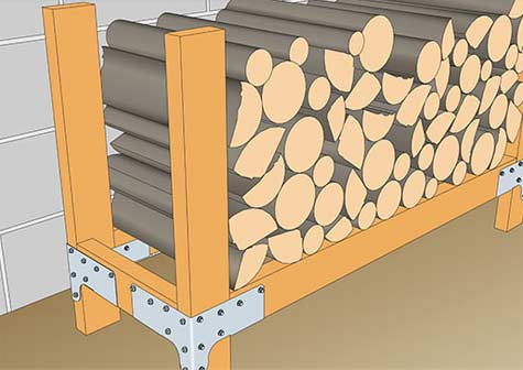 Heavy duty log storage unit