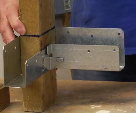 Sliding connector onto timber leg