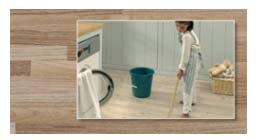 Washing laminate flooring