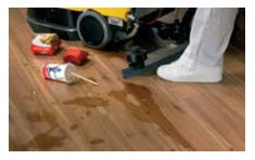 Water spilt on ordinary non waterproof laminate flooring