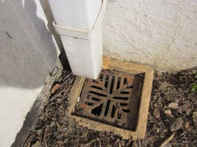 Surface Water Drain and Downpipe
