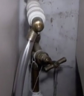 Mains stop cock with drain cock