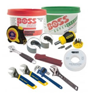 Tool kit for fitting compression joints and isolation valves