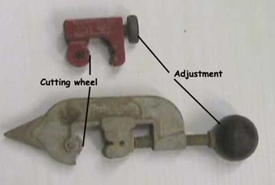 Selection of pipe cutters