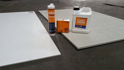 6mm and 12mm Tile Backer Board kit with adhesive, screws and SBR primer