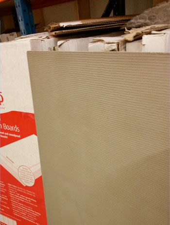 Indentations give a good key for adhesive on a backer board