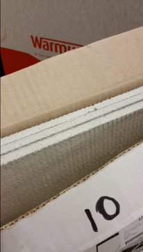 Stack of 10mm Warm Up Backer Boards