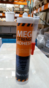 Mega strength tile backer board adhesive