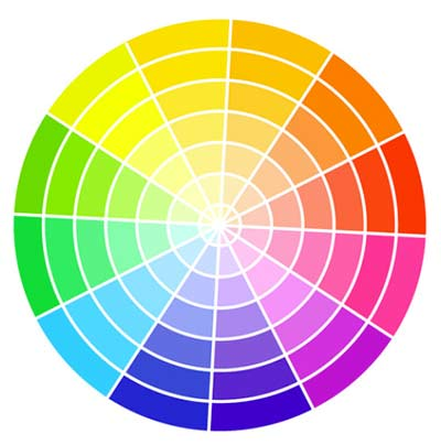 Colour wheel used in interior design projects