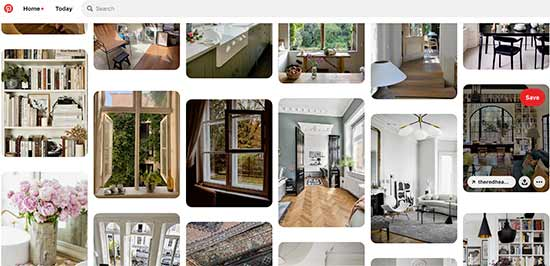 Exploring Pinterest for interior design ideas