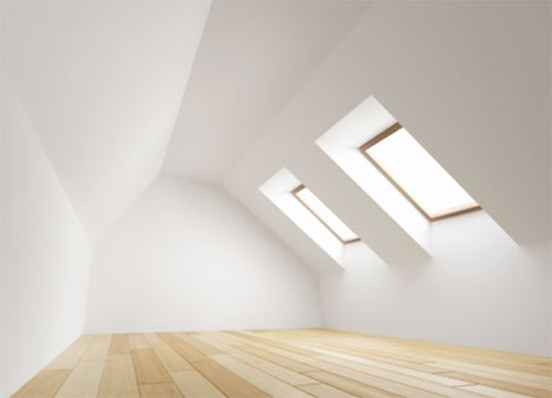 Velux window used to add light to a room space