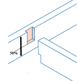 Connecting joists by notching timbers