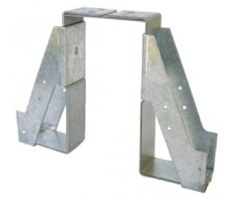 Saddle type joist hanger