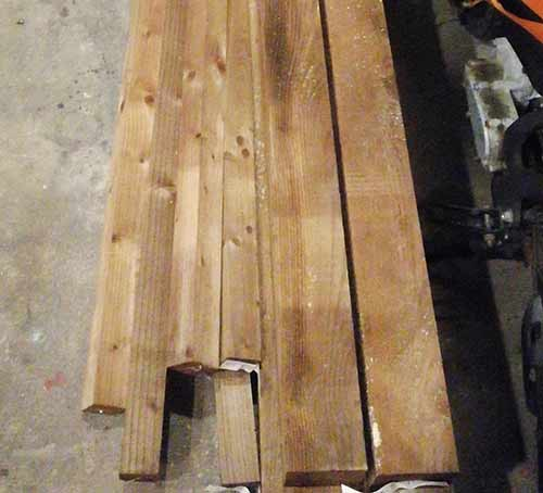 3x3 inch timber fence posts