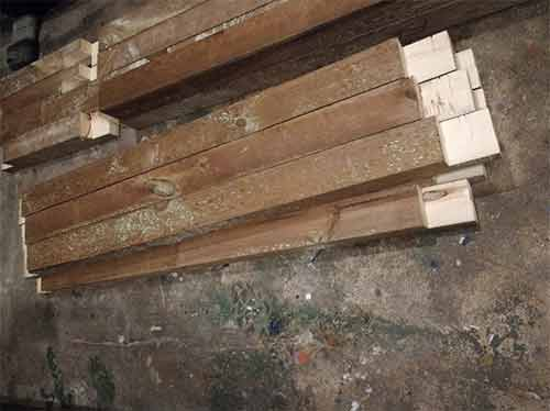 Joints cut in bracing timbers