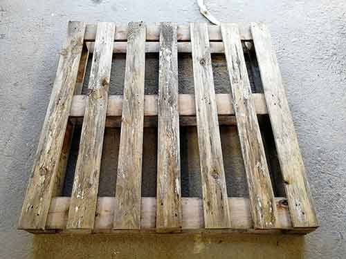 Old pallets are good source of timber