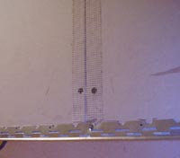 Bead and scrim tape added to joints and corner of lighting box