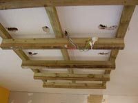 Kitchen Lighting Box Frame fixed to kitchen ceiling