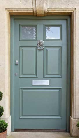 Door knocker fixed to front door