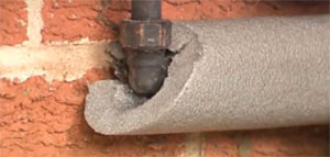 Insulated outside pipe