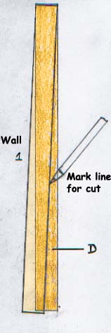 Marking Floorboards for Cutting