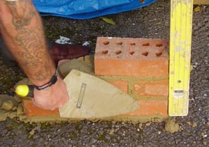 Bricks layed to Stretcher Bond