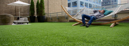 Lawn made of artificial grass