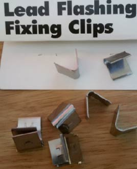 Lead Flashing clips will fit firmly in the chase