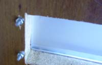 Letter box bolts tightened in inside of door
