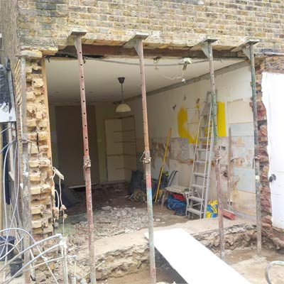 Load Bearing Wall Supported
