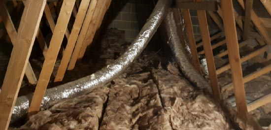 Extractor vents can pump wet air in to a loft space if they become unattached