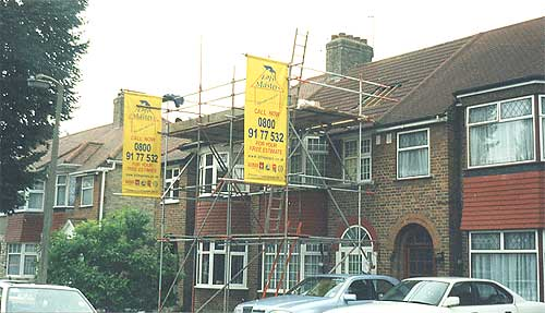 Scaffold erected