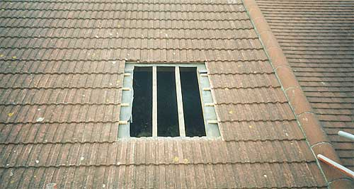 Access hole in roof