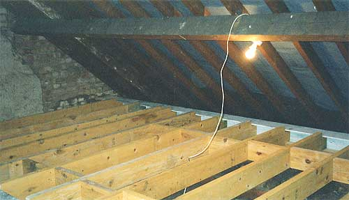 Loft conversions converting a loft or attic in your home diy internal floor joists laid into position solutioingenieria Images
